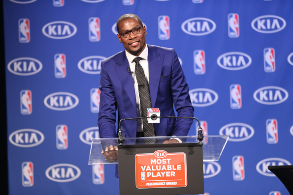 Kevin Durant Wins His 1st MVP Award