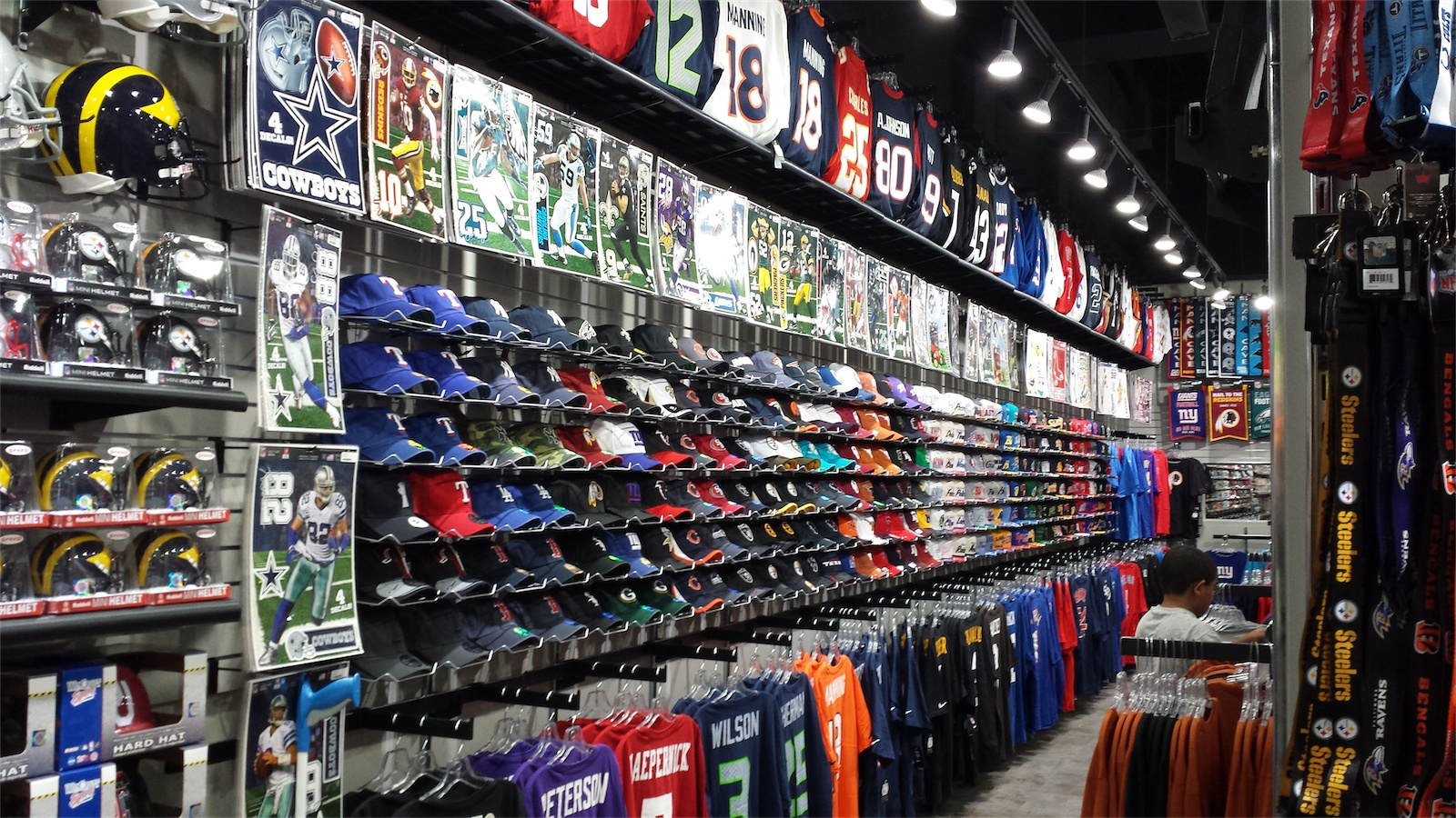 Our NFL Pro Shop offers so much more than just NFL Jerseys, T-Shirts, Hats and Hoodies to show your football fan status in. | While you're checking out our NFL Apparel, be sure to browse our selection of NFL Memorabilia, too. We've got NFL Helmets of all sizes, including Autographed Helmets from top players.