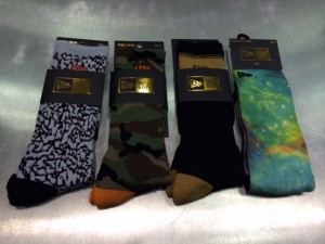 New Era branded socks are running with specific hat styles they are producing.