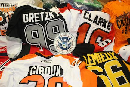 Fake NHL merchandise seized
