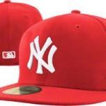 The hat that sparked a fashion revolution: a white on red New York Yankees hat.