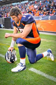 """Johnny Football hopes he has a more successful NFL career than Tebow who can now be seen """"Tebowing"""" on ESPN's SEC football coverage just four short years after being selected in the first round of the NFL draft."""