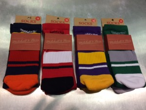 Mitchell & Ness branded socks have them dipping their toe in the sock game too.