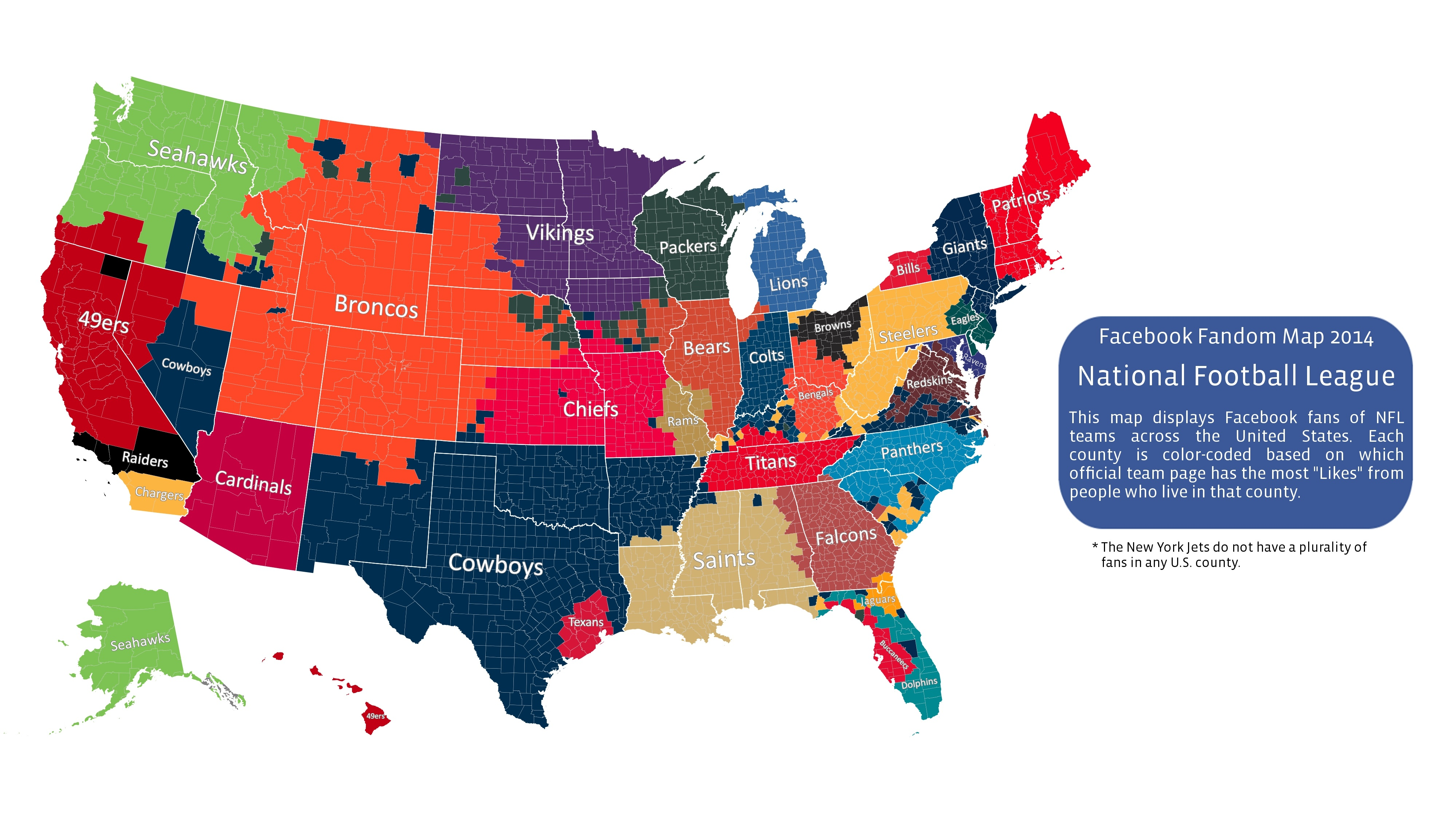 What NFL Team Does Your County Support?